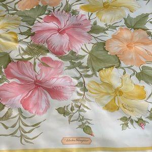 Authentic Salvatore Ferragamo Silk Floral  Scarf